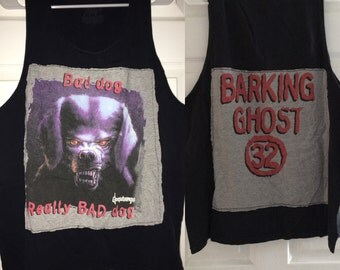 Glow in the Dark Really Bad Dog Goosebumps Dog Shirt The Barking Ghost Adult XL Sleeveless Tank Top