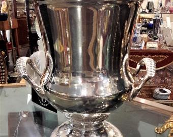 Gorham Champagne Chiller Bucket Silverplate Elegant Traditional Wedding Barware Gift