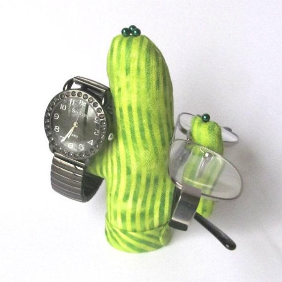 Batik Stripe Saguaro CACTUS-Stand ~ Eyeglass Watch Display ~ Ready to Ship