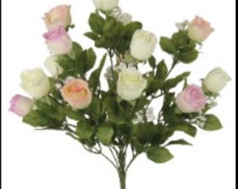 "Silk ""dried"" Rose Bud Bush"