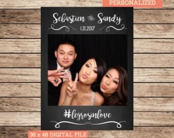 Chalkboard Wedding Photo Booth Frame Wedding Photo Prop Cutout Wedding Sign Printable Wedding Photo Frame Digital Wedding Portrait 36 x 48