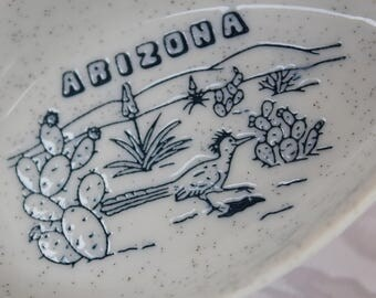 Spoon Rest Ceramic Spoon Rest - Arizona  - Cactus and Road Runner