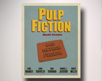 Pulp Fiction Minimalist Movie Poster / Wall Art / Movie Film Poster