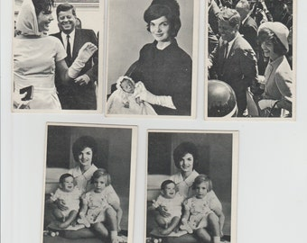Lot of 5 JFK Jackie Kennedy Onassis family trading cards, Some duplicates, Pub. 1960's T.C.G.