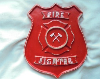 Fireman, Fire Fighter Wall Stone Wall Hanging