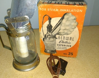 Antique 1930's Medical Equipment Renwal Electrical Vaporizer Vintage Pharmaceutical Doctor Gift In Original Box 1938