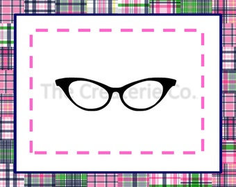 Cat Eye Glasses PNG / SVG Download - Use With Silhouette, Cricut And Other Vinyl Cutting Machines