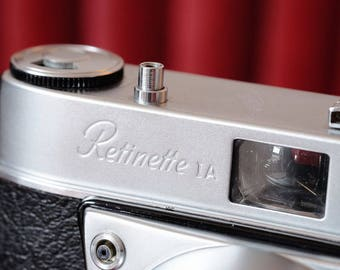 Vintage Kodak Retinette 1A 35mm film camera (early type 035), with original case, in full working condition c1959