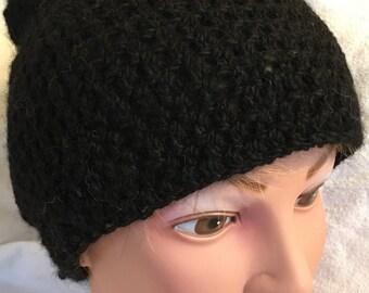 Crocheted Alpaca Beanie