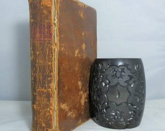 Antique Leather Hardcover Book 1788 New Complete System of Arithmetic. First Edition by Pike, Nicolas, A.M