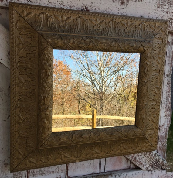 Large Framed Wooden Ornate Mirror Painted White