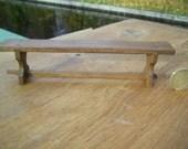 1/12th scale handmade dollshouse miniature medieval/tudor or rustic long bench