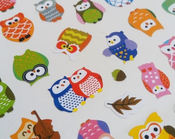 Colourful Owl Sticker Sheet