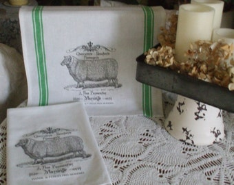 French Farmhouse Kitchen Towels - Set of 2