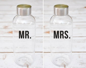 Mr and Mrs Water Bottle