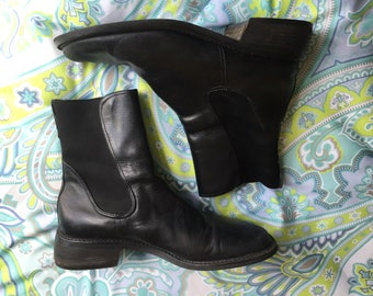 Donald J Pliner Ankle Mid Leather Boots / Size 8.5