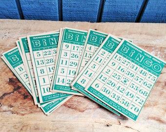 Vintage Bingo Cards - Set of 17 Bingo Cards