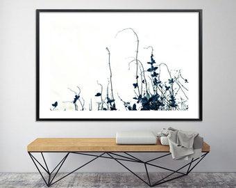 Large botanical poster print MINIMALIST modern prints wall art, Large Canvas art prints by Duealberi