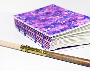 Coptic bound Journal, notebook - small Purple