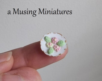 Dollhouse Miniature Cream Mints in 1:12 Scale for Easter or Spring Tea Party
