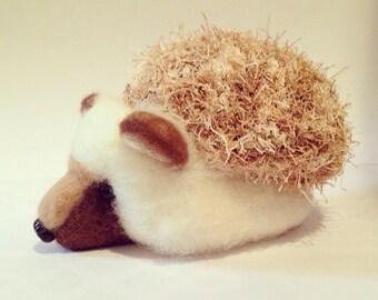 Needle Felted and Crochet Hedgehog