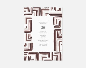 Stylish Invite Ideas / Minimalist Invitation Design / Simple Modern Party Invitations / Burgundy / Housewarming, Graduation, Birthday