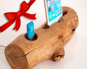 iPhone dock + extra USB3.0 port, iPhone 6 / 6 Plus / 6S / 6S Plus / 7 / 7 Plus compatible - handmade