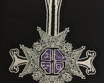 PAPA emeritus inspired embroidered motif