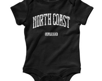 Baby One Piece - North Coast California - Infant Romper - NB 6m 12m 18m 24m - North Coast Baby Shower Gift, Santa Rosa CA, Redwood Empire