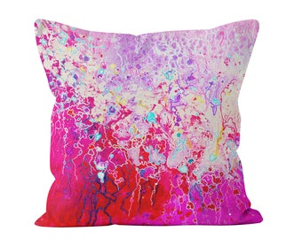 pink throw pillow pink and white abstract decorative pillow designed by louise mead available in - Pink Decorative Pillows