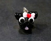 Pug with Valentine's Bow - Glass Pendant