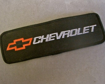 CHEVROLET PATCH Chevy Patch Vintage 80s 1989 New Old Stock NOS Large Black Iron On Chevy Logo from Indy 500