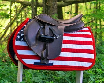 MADE TO ORDER - American Flag Saddle Pad