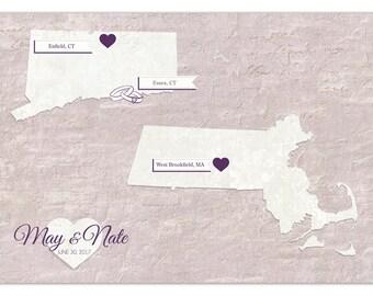 Wedding Guest Map, Guestbook Alternative, Wedding Centerpiece, Wedding Guestbook, Custom Map, World Map, Hereandthereshop