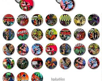 Button badges, Horror button badges