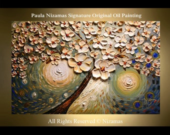Painting on canvas Acrylic and Oil Morning Mist  PALETTE KNIFE original texture art ready to hang Paula Nizamas