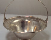 Weidlich Sterling Silver Pierced Footed Sugar Basket 1920s