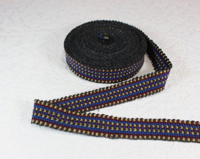 Woven Trim (6 yards), Woven Border, Cotton Ribbon, Grosgrain Ribbon, Dress Border, Border Trim, R154