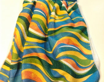Blue and Green Swirled Hanging Towel