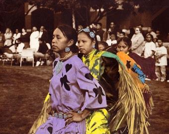 "Navajo Native American Girls ""Ceremonial Navajo Dancers"""
