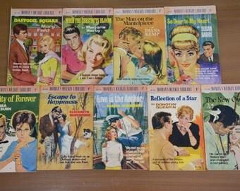 1964-1965 Women's Weekly Library 9 Books Lot No 120-129 Romance Fiction Novel Light Reader - Bromige, Kemp, Warby, Faid, Beresford, Nickson