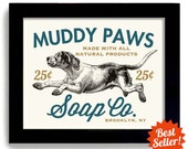 Laundry Room Decor Dog Art Home Laundry Sign Wall Art Print Washing Machine Kitchen Art Mud Room Clothespin Hound Dog Bathroom Art