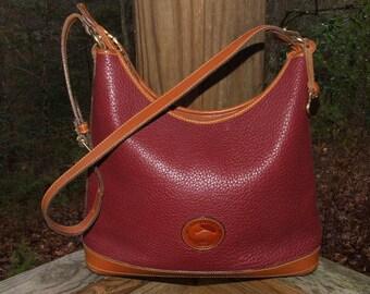 SALE  R152 Large AWL Rouge Red DOONEY Bourke Hobo Bag Purse Shoulder Bag 1065