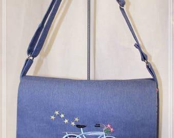 ES Messenger Bag or Diaper Bag with Changing Pad and Bib