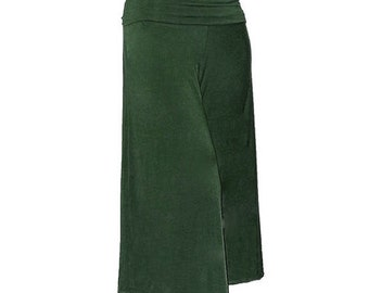 Forest Green Bamboo/Organic Cotton Gauchos - Ready to Ship - Size XL/2X(US 18-20) - Ethical Fashion