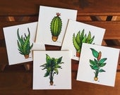 The Garden for a Good Cause - A Collection of 5 Mini Prints