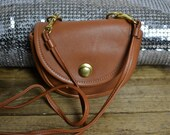 Tiny Crossbody Bag - Vintage COACH USA Cognac Leather Belt Purse - 1980s