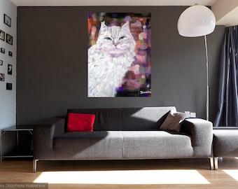 Original 24x36 Giclee Cat Canvas Wall Art -: rdoward fine art