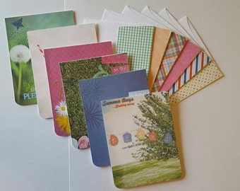 CLEARANCE Blank Note cards >> set of 6 Note Cards, Blank Note Cards, Stationary Set, Card Set, Summer Cards, Blank Cards