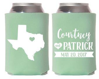 Custom Wedding Favor - Custom State Wedding Can Coolers